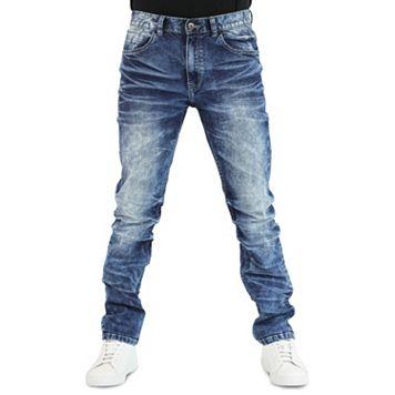 Men's Earl Jean Camden Streaky Blast Slim Stretch Denim Jeans