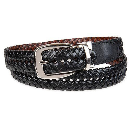 Men's Croft & Barrow® Reversible Braided Belt