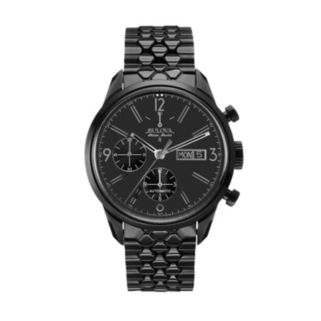 Bulova Men's Accu Swiss Ion-Plated Stainless Steel Automatic Watch - 65C115