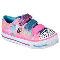 Skechers Twinkle Toes Shuffles Lookin Lovely Girls' Light Up Shoes