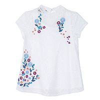 Girls 7-16 IZ Amy Byer Lace Embroidered Mockneck Top