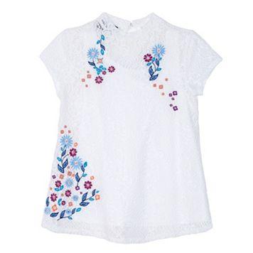 Girls 7-16 IZ Amy Byer Lace Embroidered Mockneck Top
