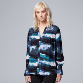 Women's Simply Vera Vera Wang Abstract Peasant Top