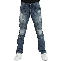 Men's Earl Jean Yuna Biker Fit Tapered Stretch Denim Jeans