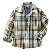 Toddler Boy OshKosh B'gosh® Plaid Poplin Button Down Shirt