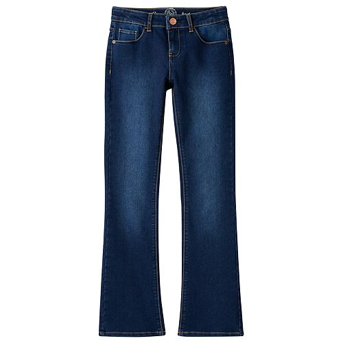 Girls Plus Size SO® Perfectly Soft Embroidered Denim Bootcut Jeans