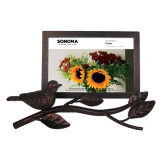 "SONOMA Goods for Life™ Bird 4"" x 6"" Rubbed Iron Frame"