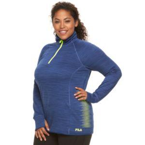 Plus Size FILA SPORT¨  Reflective Dot Quarter-Zip Running Jacket