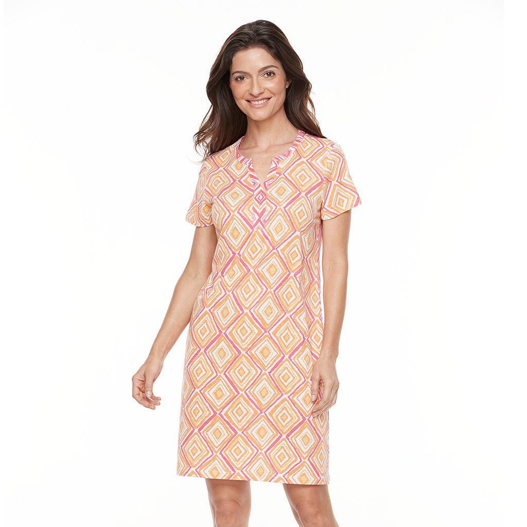 Women's Caribbean Joe Geometric T-Shirt Dress