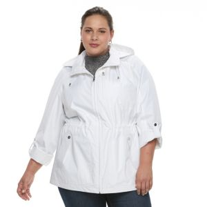Plus Size Croft & Barrow¨ Hooded Roll-Tab Anorak Jacket