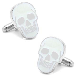 Glow-In-The-Dark Skull Cuff Links