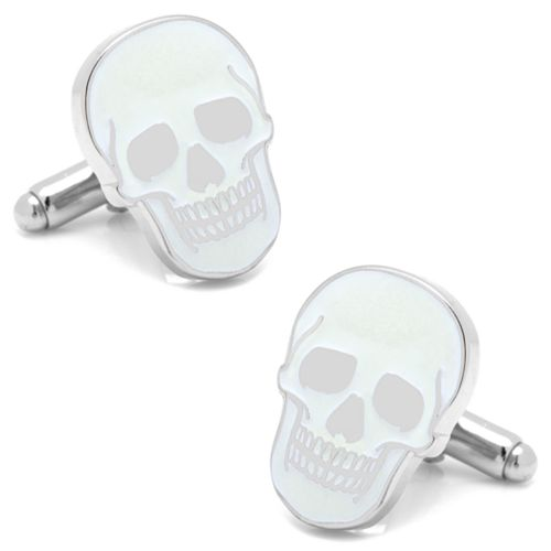 Glow-In-The-Dark Skull Cuff Links