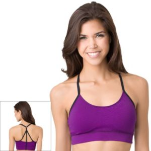 Juniors' SO® Bra: Strappy Back Seamless Low-Impact Sports Bra