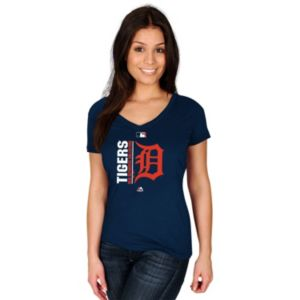 Women's Majestic Detroit Tigers AC Team Icon Tee