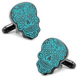 Glow-In-The-Dark Day of the Dead Cuff Links