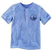Toddler Boy Carter's Chest Graphic Henley Tee