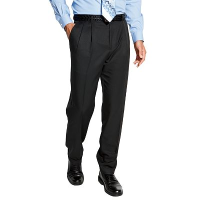 Croft and Barrow Pleated Microfiber Dress Pants - Big and Tall