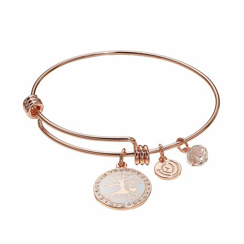 "love this life ""Family"" Tree Charm Bangle Bracelet"