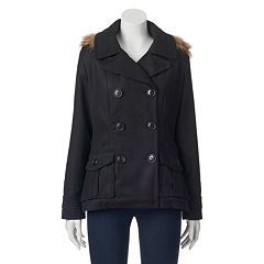 Juniors' Urban Republic Wool Double-Breasted Peacoat