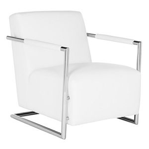 Safavieh Couture White Leather Club Arm Chair