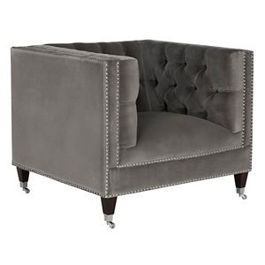 Safavieh Couture Miller Tufted Velvet Accent Chair