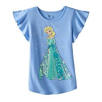 Disney's Frozen Girls 4-7 Elsa Sequin Flutter Tee by Jumping Beans®
