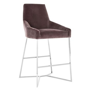 Safavieh Couture High-Back Velvet Bar Stool