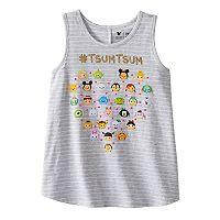 Disney's Tusm Tsum Girls 4-7 Hashtag Stripe Swing Tank Top by Jumping Beans®