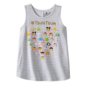 Disney's Tusm Tsum Girls 4-7 Hashtag Stripe Swing Tank Top by Jumping Beans®