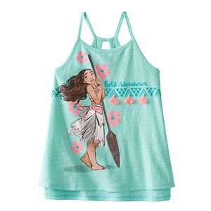 Disney's Moana Girls 4-7 Keyhole High-Low Swing Tank Top by Jumping Beans®