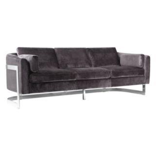 Safavieh Couture Stainless Steel Velvet Sofa