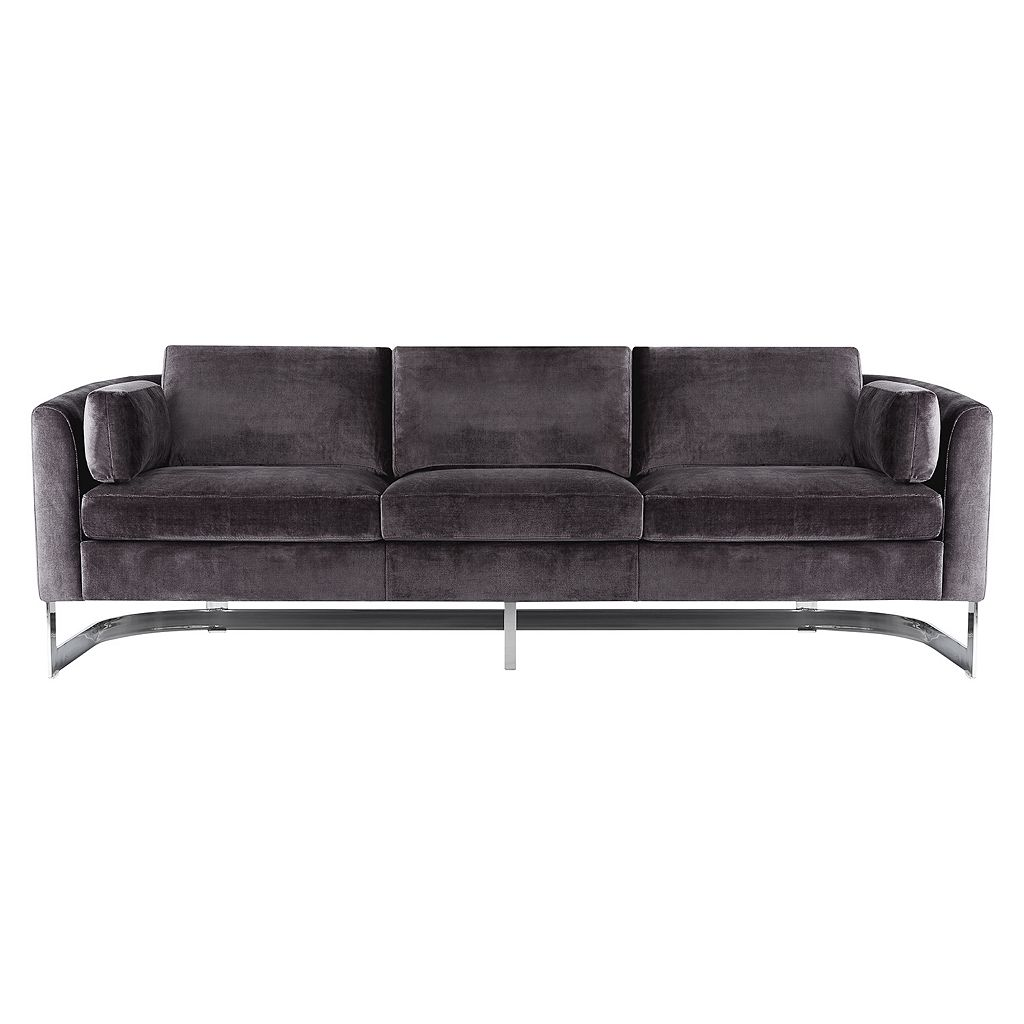 Safavieh Couture Stainless Steel Velvet Sofa
