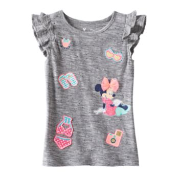 Disney's Minnie Mouse Girls 4-7 Applique Flutter Tee by Jumping Beans®