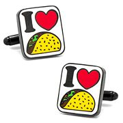 I Love Tacos Cuff Links