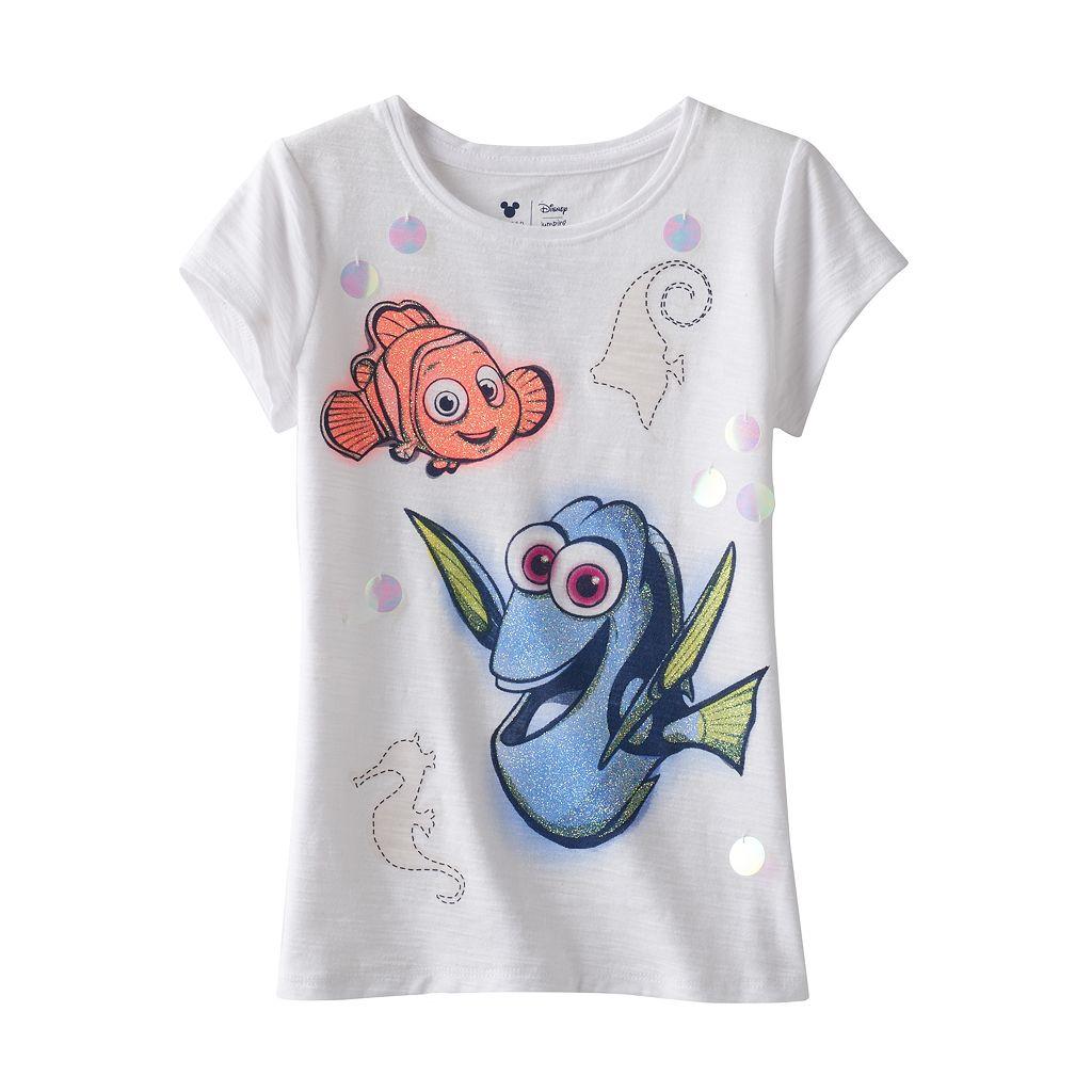 Disney's Finding Dory Girls 4-7 Nemo Glitter Sequin Tee by Jumping Beans®