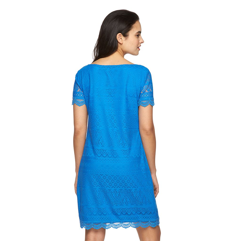 Women's Suite 7 Crochet Shift Dress