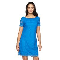 Women's Suite 7 Crochet Shift Dress