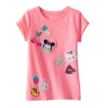 Disney's Tsum Tsum Girls 4-7 Sequin Applique Tee by Jumping Beans®