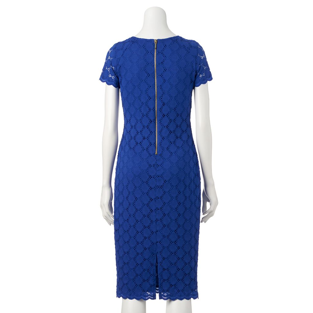 Women's Ronni Nicole Circle Lace Sheath Dress