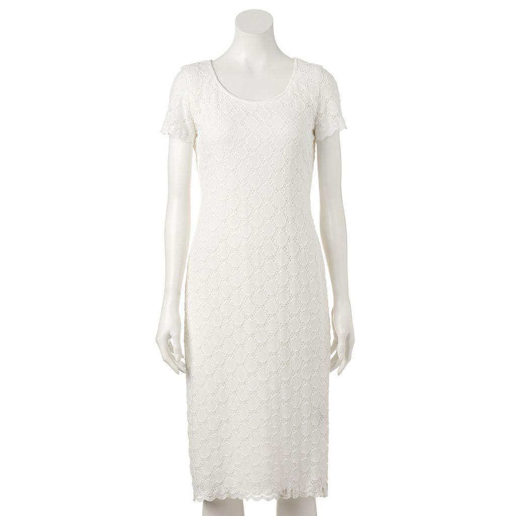 Women's Ronni Nicole Circle Lace Sheath Dress