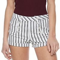 Juniors' Almost Famous Print Sailor Shorts
