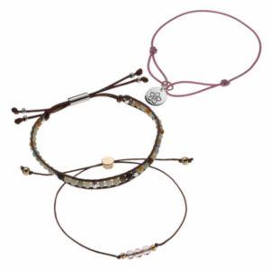love this life Amazonite & Flower Bead Multi Strand Bracelet