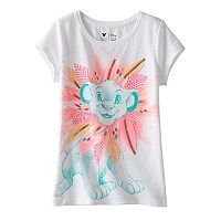 Disney's The Lion King Girls 4-7 Simba Sequin Tee by Jumping Beans®