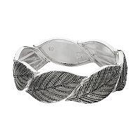 Textured Leaf Stretch Bracelet