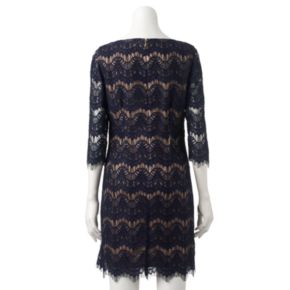 Women's Jessica Howard Fringe Lace Shift Dress