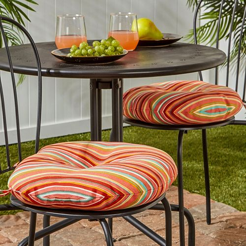 Greendale Home Fashions 2 Pack 15 In Round Outdoor Bistro Chair Cushion