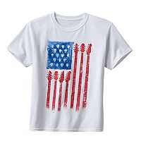 Boys 8-20 Guitar Flag Tee