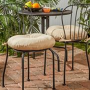 Greendale Home Fashions 2-pack 18 in Round Outdoor Bistro Chair Cushion