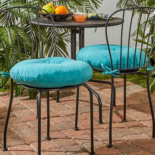 Greendale Home Fashions 2 Pack 18 In Round Outdoor Bistro Chair Cushion
