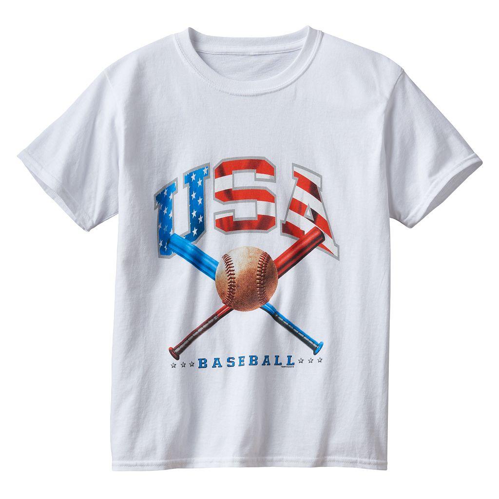 Boys 8-20 USA Baseball Bats Tee